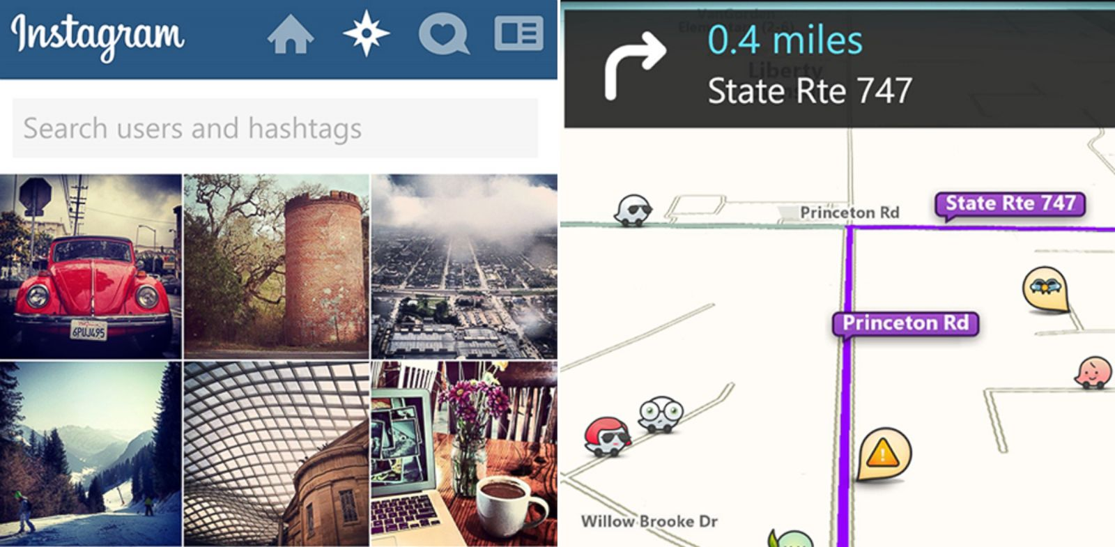 PHOTO: Instagram and Waze are not available for Windows Phone.