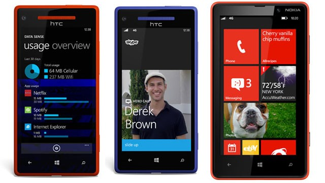 PHOTO: Microsoft's Windows Phone 8 has new features, including Data Sense, Skype, and a new lock screen.