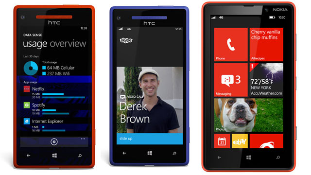 PHOTO: Microsofts Windows Phone 8 has new features, including Data Sense, Skype, and a new lock screen.