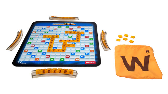 PHOTO: Hasbro's new Words With Friends game is based off the popular online game from Zynga.