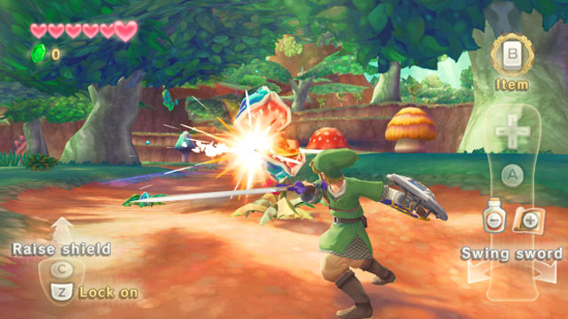 "PHOTO: A clip from ""The Legend of Zelda: Skyward Sword"" is shown."