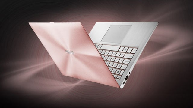 PHOTO: The Asus Zenbook is shown in rose gold.