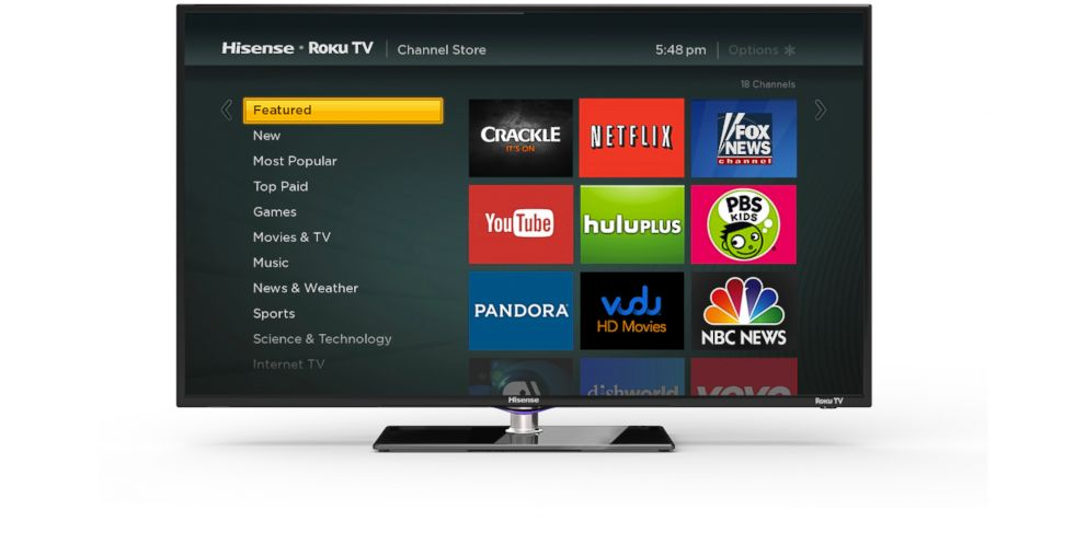 PHOTO:Roku TV will allow customers to watch Roku channels without a set-top box.