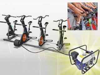 human powered gym