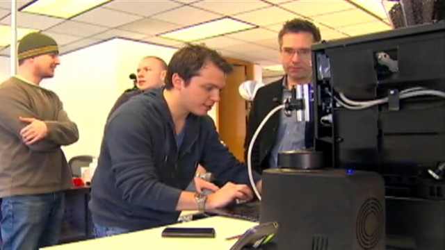 VIDEO: Seattle companys creation uses text messaging to control an espresso machine.