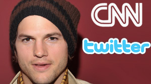 Ashton Kutcher, Twitter, CNN