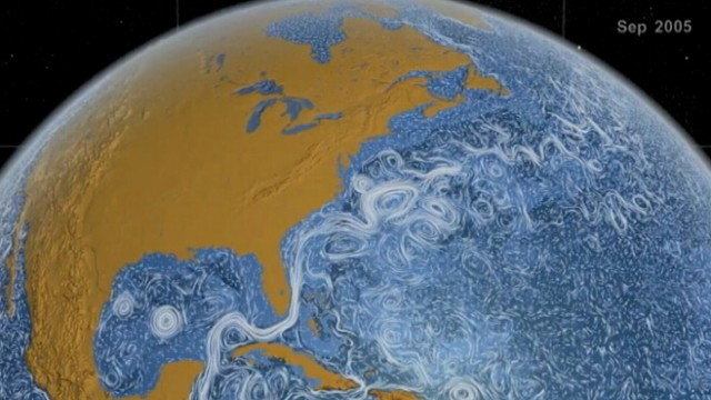 VIDEO: Engineers make stunning time-lapse video of worlds ocean currents.