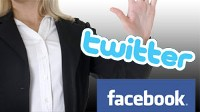 twitter facebook
