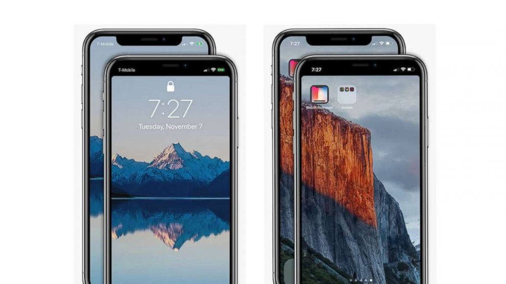 Don't like your iPhone X display notch? There's an app for that