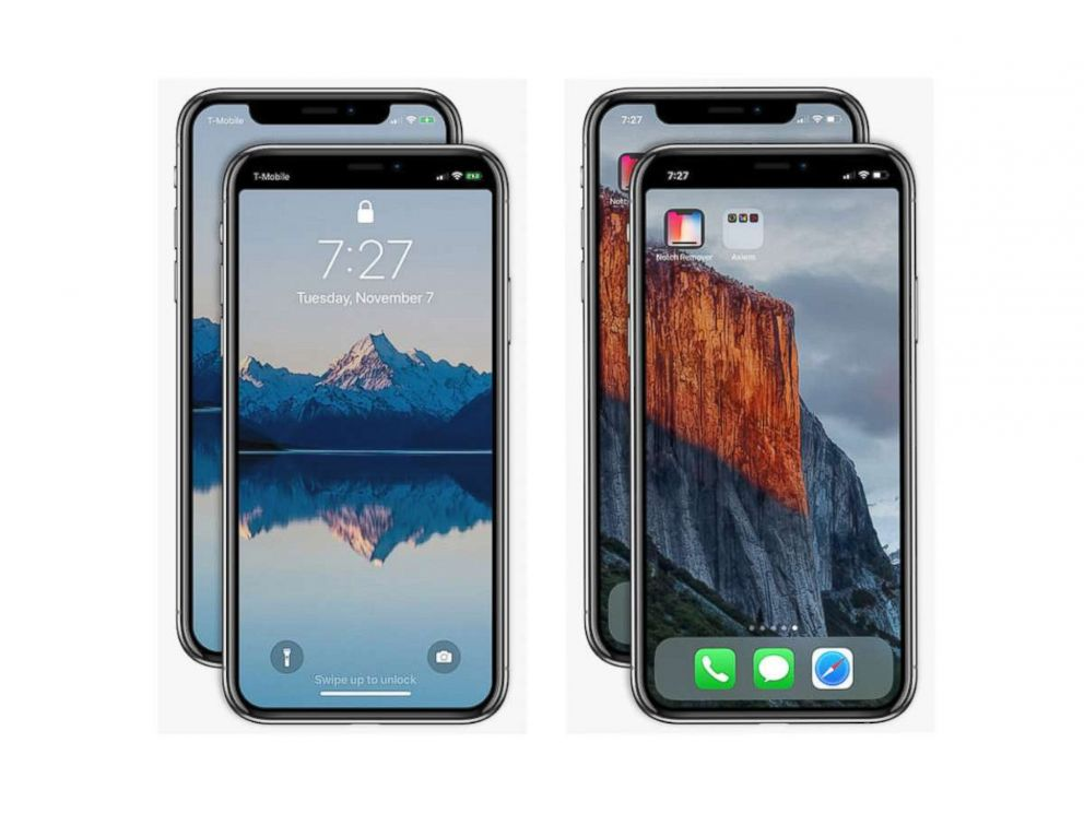 PHOTO: Axiem Systems develops an app that removes the notch at the top of an iPhone X screen called Notch Remover.