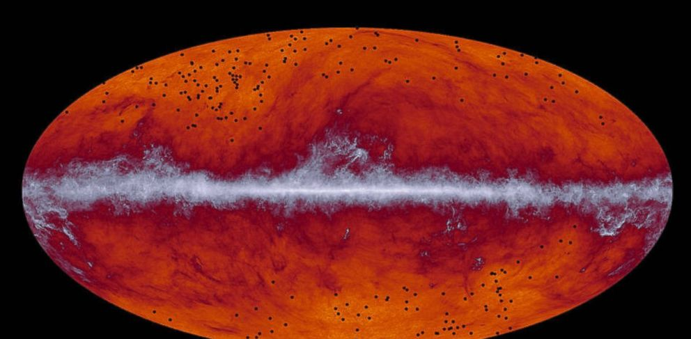 PHOTO: European Space Agency telescopes capture evidence of galaxy formation in the distant universe.