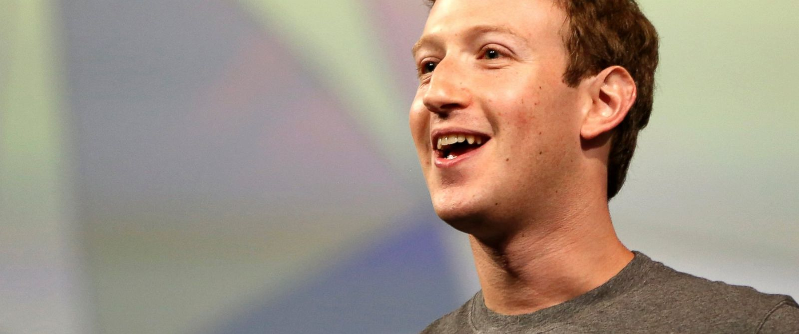 PHOTO: Mark Zuckerberg addresses the crowd gathered during his keynote address at Facebooks f8 developers conference in San Francisco, Calif. on April 30, 2014.