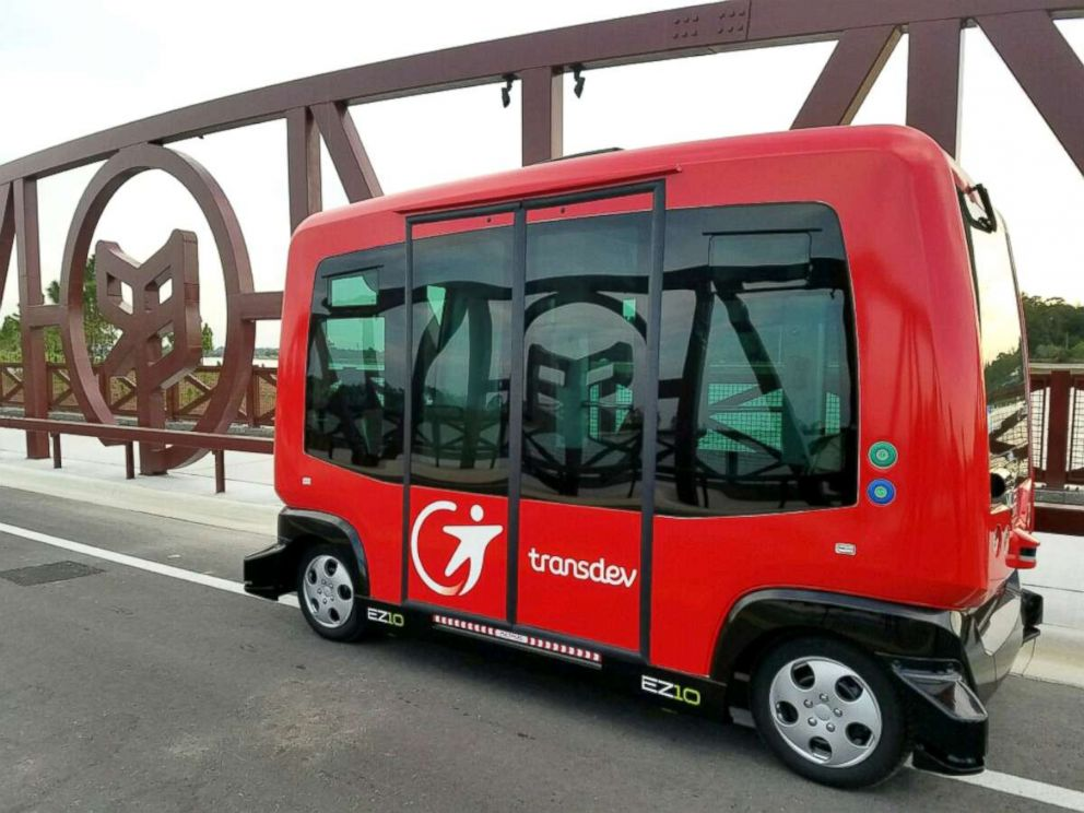 PHOTO: The Babcock Ranchs autonomous shuttle is one of 65 in the world.