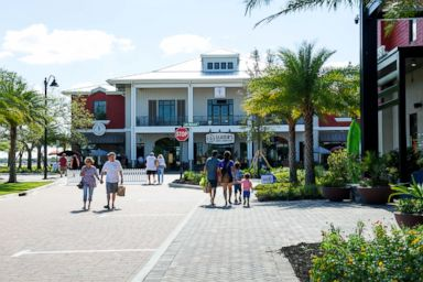 PHOTO:The town center of the Babcock Ranch has restaurants and stores that are open to the public.