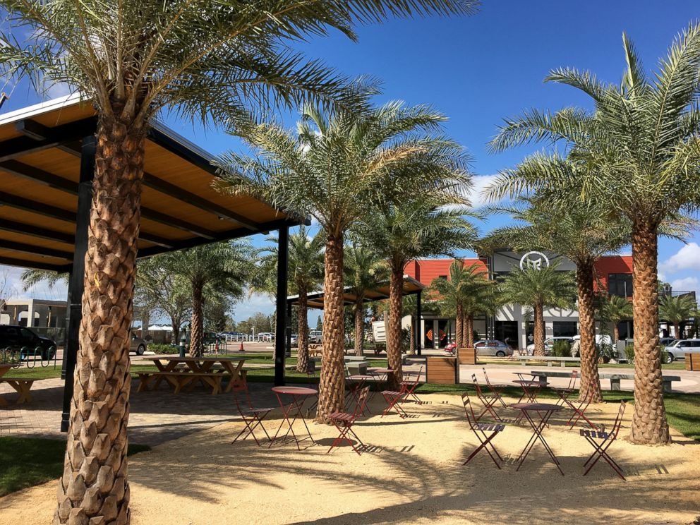 PHOTO: The outdoor area of the town center at the Babcock Ranch.