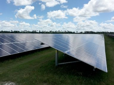 PHOTO:The solar field that was built to power Babcock Ranch.