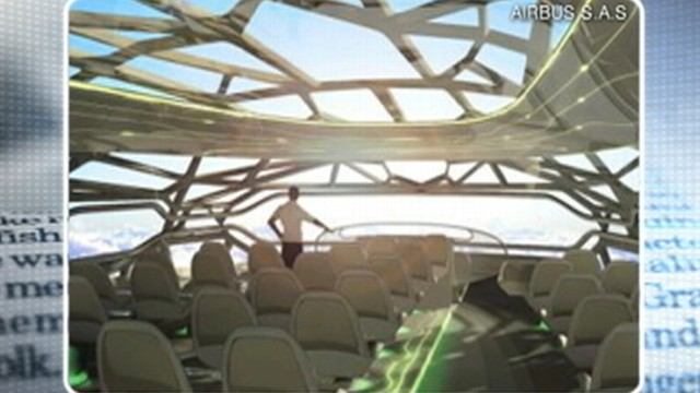 VIDEO: Airbus' futuristic concept of air travel includes a transparent cabin.