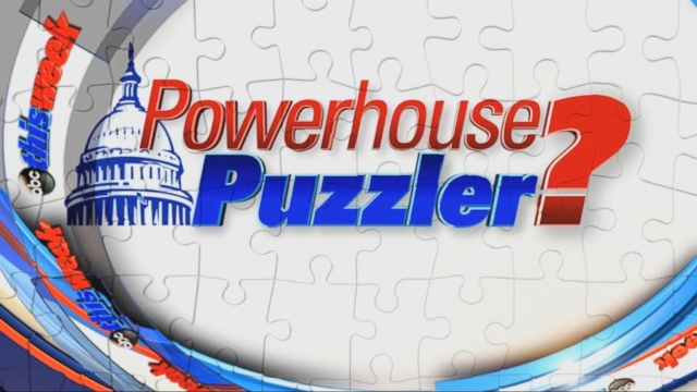 "VIDEO: The ""This Week"" powerhouse roundtable takes our political trivia challenge."