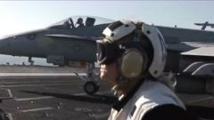 VIDEO: Aboard the U.S.S. George H.W. Bush as Airstrikes Hit