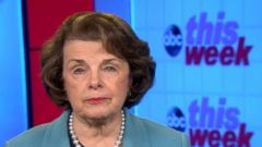 VIDEO: Sen. Dianne Feinstein on This Week