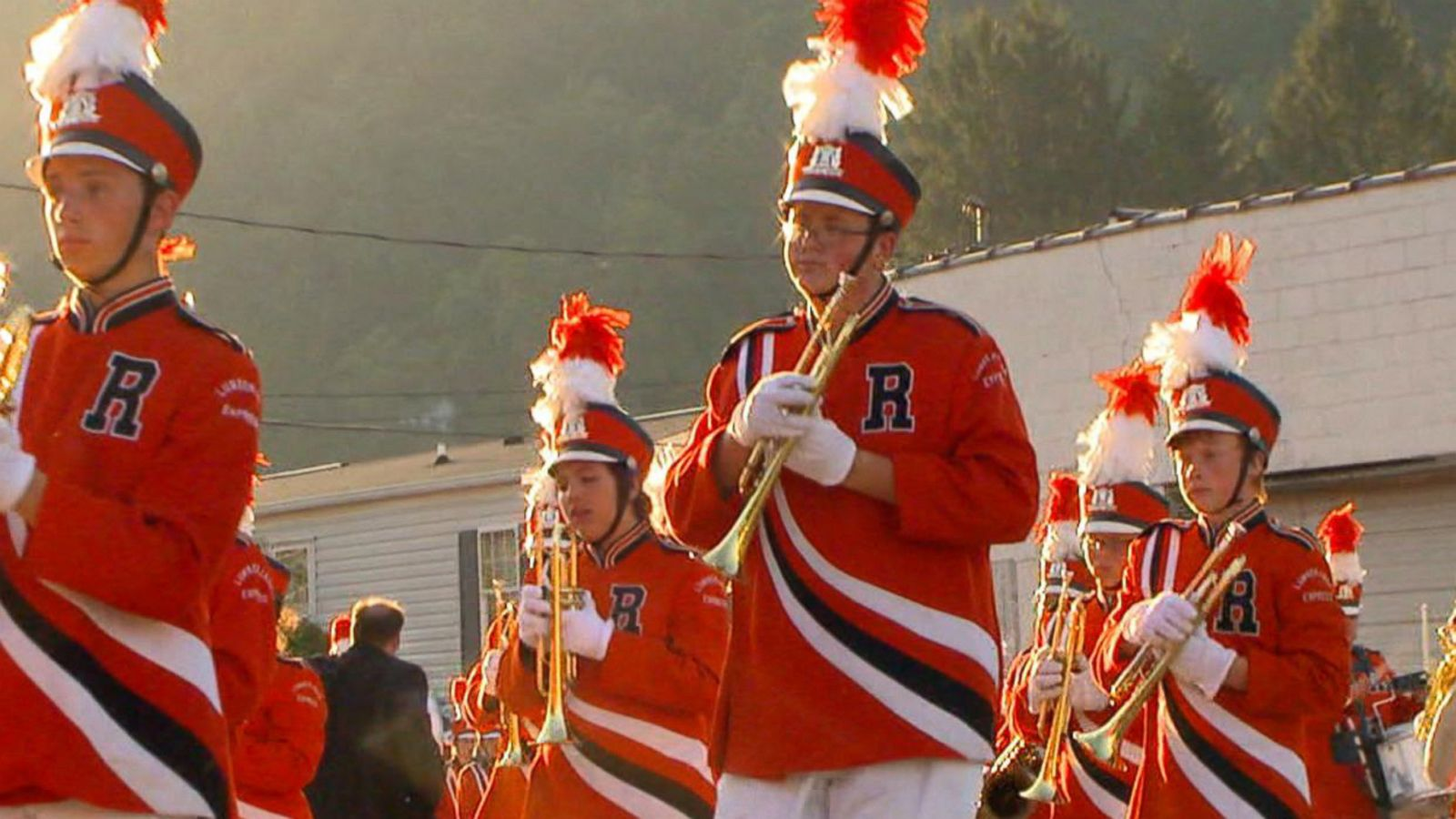 VIDEO: Marching Band's Tune Lifts Up Flooded Town
