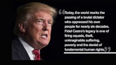 VIDEO: Trump Calls Fidel Castros Death The Passing of a Brutal Dictator