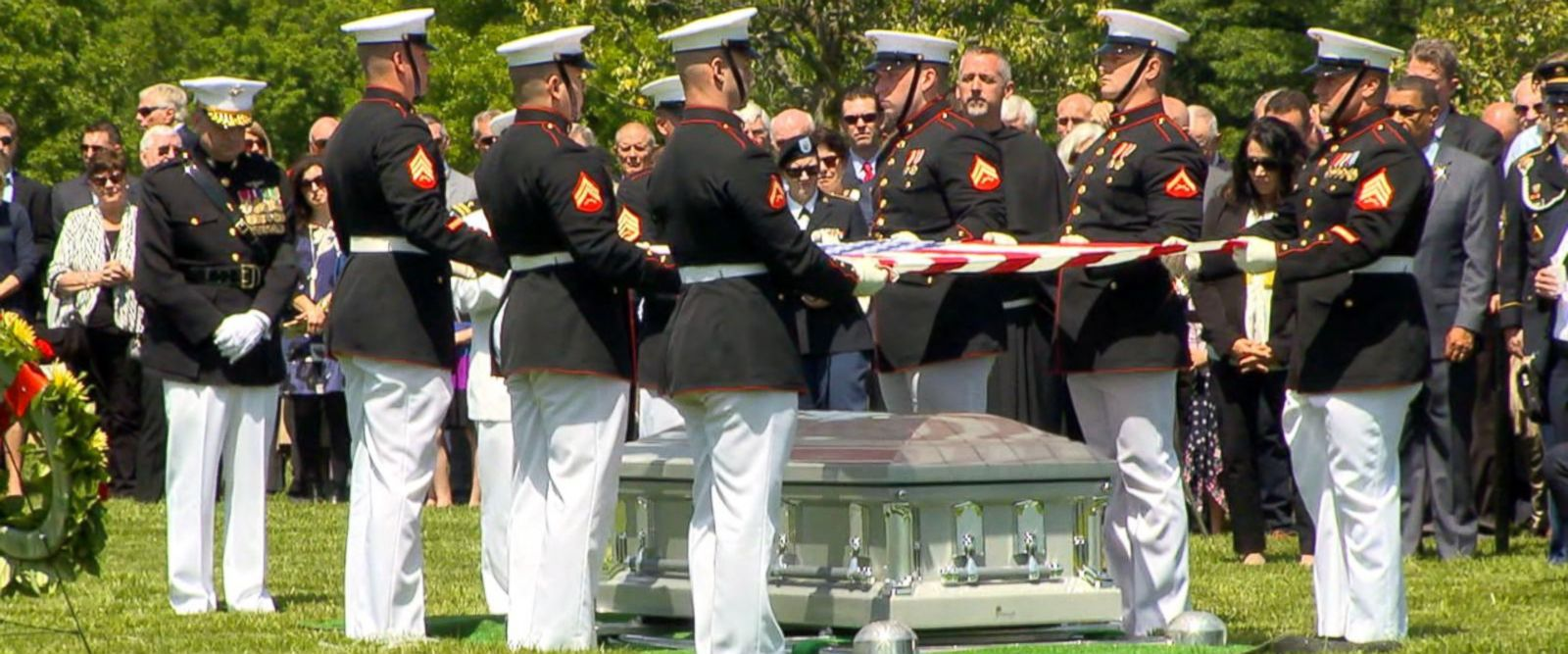 VIDEO: Missing Marine laid to rest nearly 50 years after plane shot down in Vietnam War