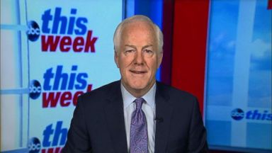 'VIDEO: Senate Majority Whip John Cornyn on GOP tax bill' from the web at 'http://a.abcnews.com/images/ThisWeek/171217_tw_cornyn_16x9_384.jpg'