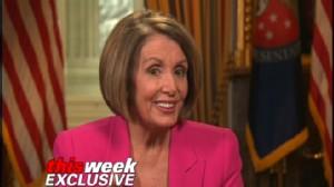 Video of Nancy Pelosi on This Week with Elizabeth Vargas.