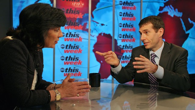 PHOTO Senior White House Adviser David Plouffe appears on 'This Week with Christiane Amanpour.'