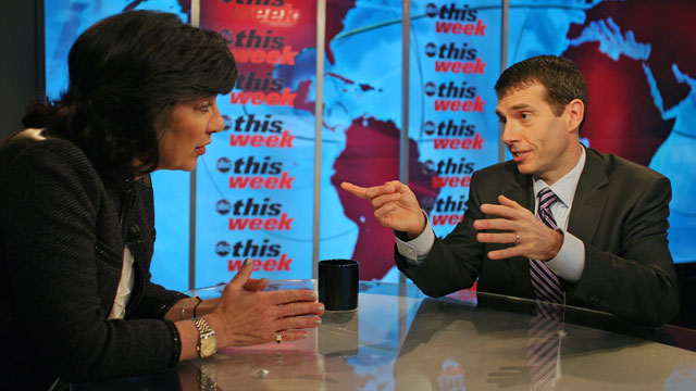 PHOTO Senior White House Adviser David Plouffe appears on This Week with Christiane Amanpour.
