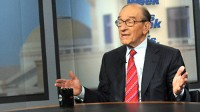 "PHOTO Former Federal Reserve Chairman Alan Greenspan discusses job loss, the economy and what's to come during an exclusive interview on ABC's ""This Week."""