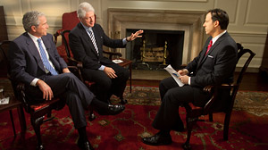 Bill Clinton, George Bush