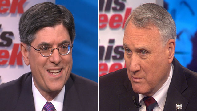 PHOTO: Lew and Kyl: Differences Over Taxes, Spending Still Hold Back Bud