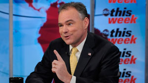 "DNC Chairman Tim Kaine appears on ""This Week with Christiane Amanpour."""