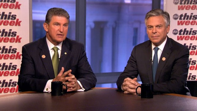 "VIDEO: Honorary chairs of No Labels Sen. Joe Manchin and Jon Huntsman on ""This Week."""