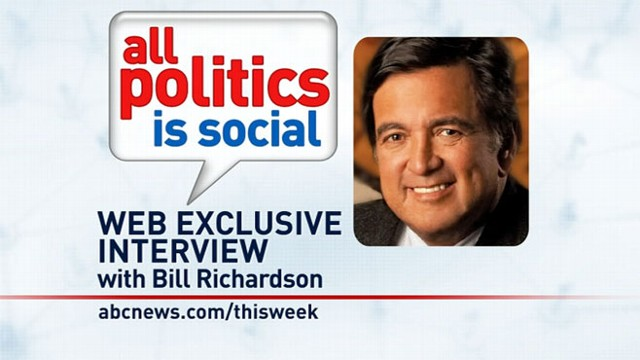 VIDEO: This Week Web Extra: Bill Richardson
