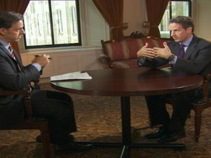 Video of Sec. Geithner on This Week.