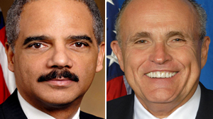PHOTO Attorney General Eric Holder and Former New York City Mayor Rudy Giuliani to appear on ABC?s ?This Week?
