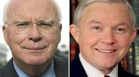 Photo: 'This Week' headliners Sens. Patrick Leahy and Jeff Sessions