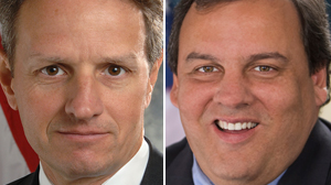 "PHOTO Treasury Secretary Timothy Geithner and New Jersey Gov. Chris Christie to appear on ABC?s ""This Week."""