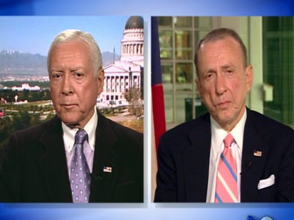 VIDEO: Sens. Arlen Specter and Orrin Hatch go head-to-head over health care reform.