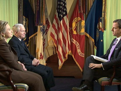 VIDEO: Jake Tapper Interviews Hillary Clinton and Robert Gates