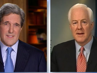 "VIDEO: Sens. Kerry and Cornyn on ""This Week"""