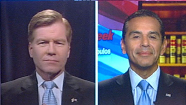 VIDEO: The GOP Virginia governor and Democratic L.A. mayor on the 2012 election.