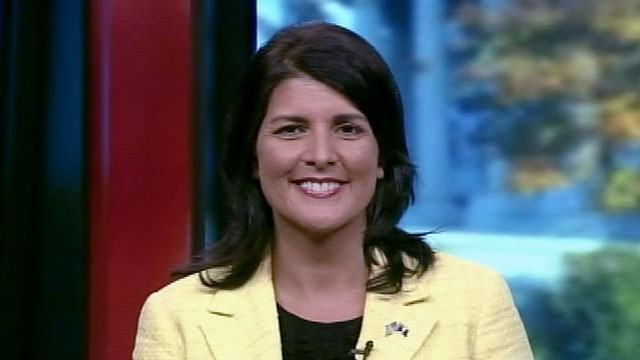 "PHOTO: Gov. Nikki Haley appears on ""This Week with Christiane Amanpour."""