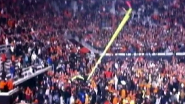 VIDEO: Oklahoma State  football fans injured in on-field celebration.
