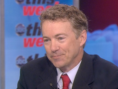 "VIDEO: Tea Party favorite Rand Paul speaks with Christiane Amanpour on ""This Week."""
