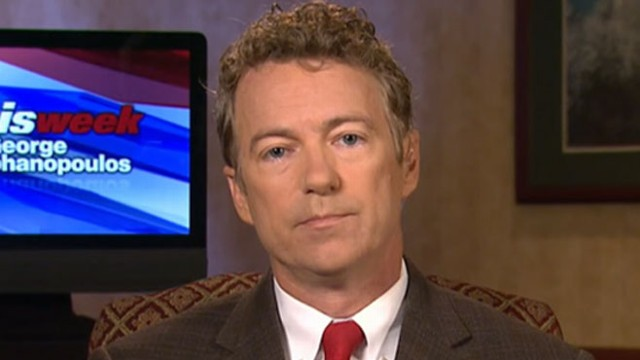 VIDEO: Sen. Rand Paul Interview on This Week