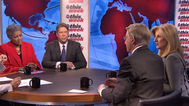 VIDEO: George Will, Arianna Huffington, Major Garrett, and Donna Brazile.